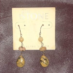 Sterling Silver & Natural Stone/Crystal Earrings